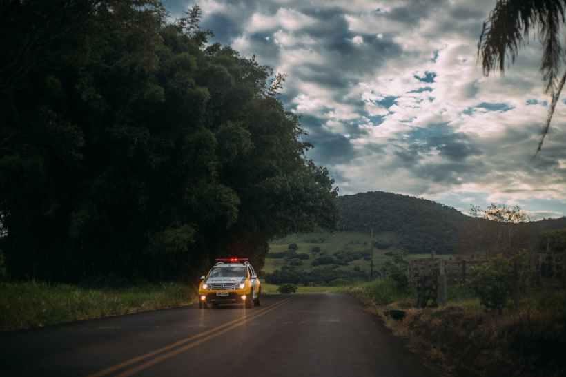 action asphalt car clouds